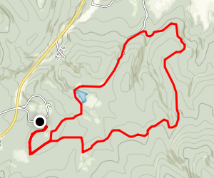 Lubrecht Experimental Forest Cross Country Ski Trails D, A, C Map