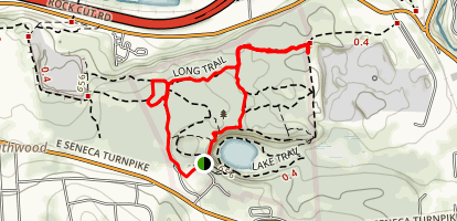 Mildred Faust, Long Trail, and Long Trail Extension Loop Map