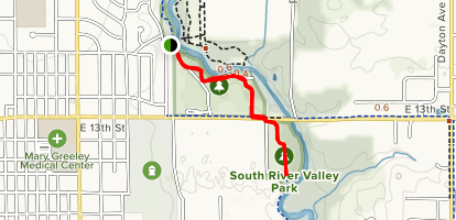 North to South Park Trail Map