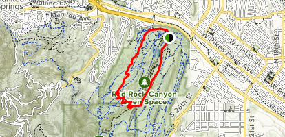 Red Rock Canyon, Roundup Trail, Contemplative Trail Map