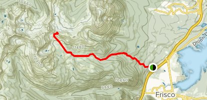 Eccles Pass to Meadow Creek Trail Map