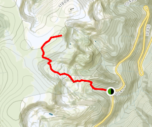 Second Creek Trail to Twin Cones Map