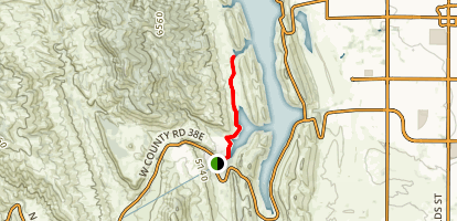 Inlet Bay Trail to Horsetooth Reservoir Map
