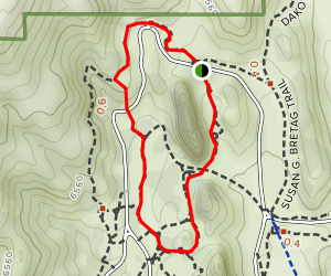Palmer Trail and Central Garden Loop Map