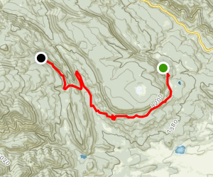 Harlan Staff Camp to Ute Gulch to Lower Sawmill Trail Camp Map