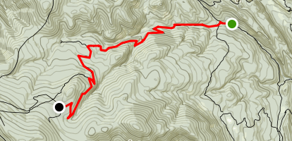 Lower Sawmill Trail Camp to Whistle Punk Trail Camp Map