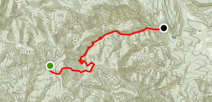 Red Hills Trail Camp to Hunting Lodge Staff Camp Map