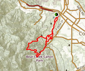 Red Rock, Lion and Section 16 Loop Map