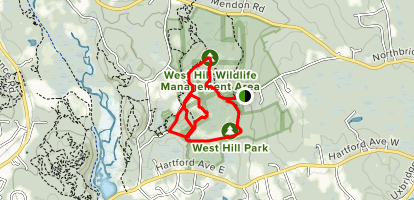 West Hill Lower Loop Map