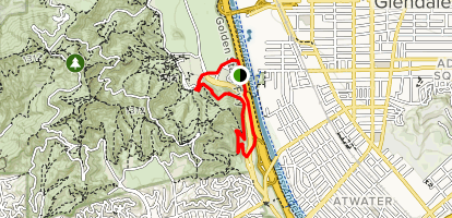 Main Trail to Lower Beacon Trail  Map
