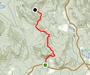 Long Trail: Highway 4 to South Park Rd Map