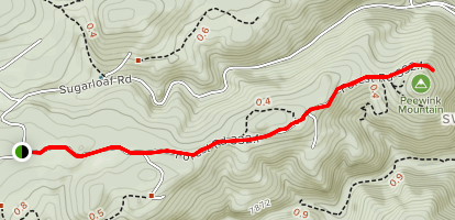 Peewink Mountain Trail Map