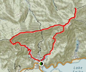 Mount Onigadake and Mount Odake Loop Map