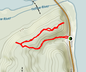Founders Pond and Nezekaw Point Overlook Map