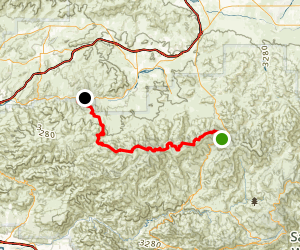 Pacific Crest Trail: Angeles Forest Highway to Soledad Canyon Road Map