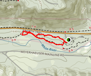 West, Old Naches, Wind in the Woods, and Land of the Giants Loop Trail Map