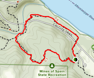 Calcite Foot Trail Map