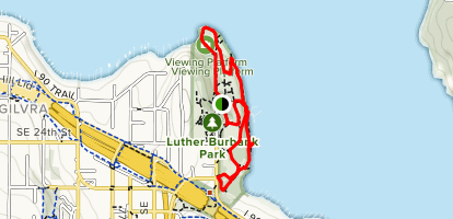 Luther Burbank Park Loop Map