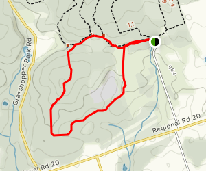Connecting Trail via Eastern Bluebird Trail Map