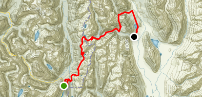 Routeburn Track: Key Summit to Lake Sylvan Map
