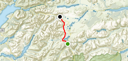 West Highland Way: Bridge of Orchy to Kingshouse Map