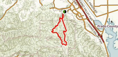 Bane Canyon Road, Upper Aliso Canyon Trail, and Sidewinder Trail Loop Map