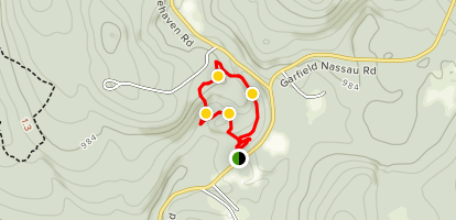 Main Trail and Rock Polypody Fern Trail Loop Map