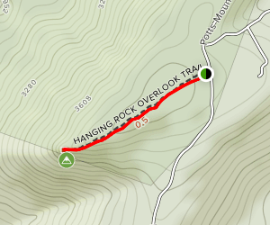 Hanging Rock Overlook Trail Map