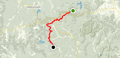 Ozark Trail: Middle Fork Section Map