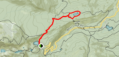 Bear Lake to Lake Bierstadt Map