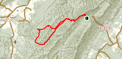North Mountain Trail Loop Map