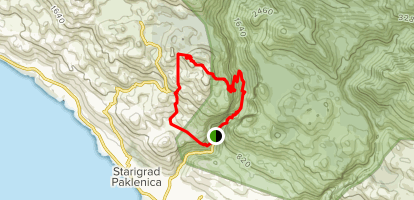 Paklenica National Park Loop Map