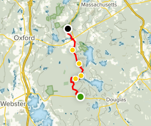 Midstate Trail: Douglas State Forest to Sutton Map