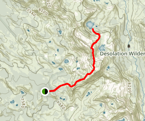 Red Peak Stock Trail to Lake Schmidell Map