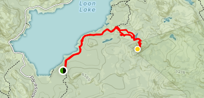 Loon Lake Trail to Brown Mountain Map