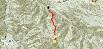Cool Creek Trail to Devil's Peak Map