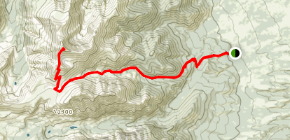 Mount Antero via Wagon Loop and Little Browns Creek Trail Map