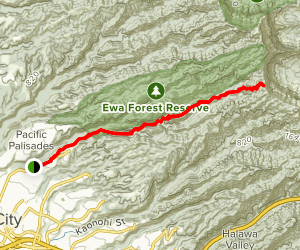 Waimano Ridge Trail Map