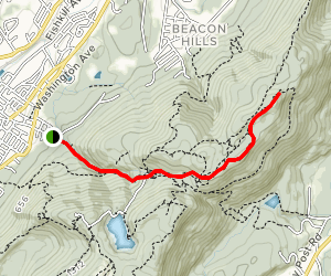 Fishkill Ridge Trail to Lambs Hill and Bald Hill Map