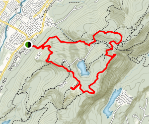 Casino Trail to South Beacon Mountain, Yellow Trail to Lambs Hill Map