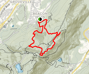 Fishkill Ridge Loop with Lambs Hill and Bald Hill Map