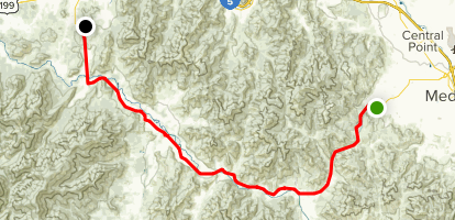 Highway 238: Jacksonville to Grants Pass Map