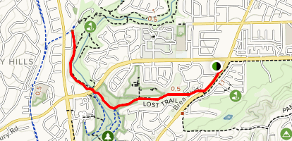 Lost Trail and Brea Dam Trail Map