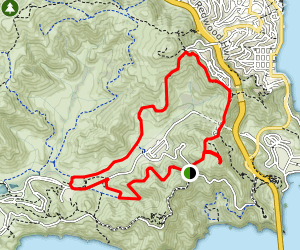 Rodeo Valley Loop and Slacker Hill Map