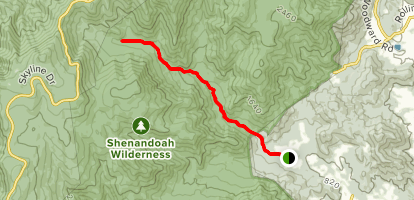 Nicholson Hollow to Corbin Cabin Map
