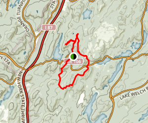 Island Pond, High Peak, and Tom Jones Loop Map