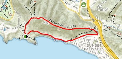 Shell Beach Bluffs and Ontario Ridge Map