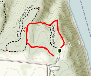 Bridal Veil to Weeping Rock Trail  Map