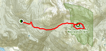 Tenquille Lake Trail  Map