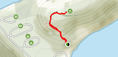 Lark Harbour Head to Flapper Hill Map